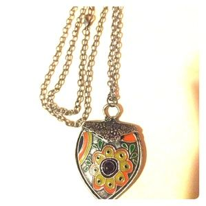 Vintage Heart Shaped Charm Necklace